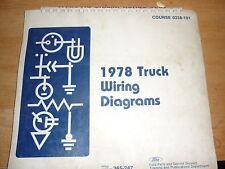 1978 ford f600 f-600 f-800 f800 cowl wiring diagrams se