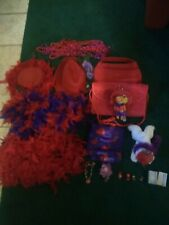 Feathers Scarf Pins Brooch handbags Red Hat Society Lot Of Everything,Hats