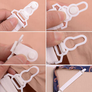 4pcs Bed Sheet Mattress Blankets Grippers Elastic Clip Holder Strap Fasteners