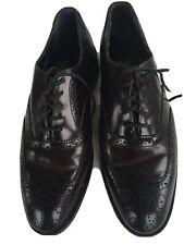 Nunn Bush Nelson Mens Wingtip Oxford Dress Shoes  Size 8.5 Medium Dark Brown