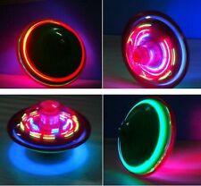 Kids UFO Toupie Light Up Flashing Laser Music Sound Tops électronique jouet JX