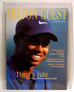TIGER WOODS ON THE COVER OF HILTON GUEST MAGAZINE - FALL/WINTER 1997/98