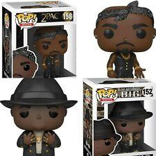 Funko POP! Notorious B.I.G. w/Fedora 152 & Tupac w/Vest 158 Bundle