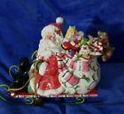Fitz And Floyd Santa & Sleigh Mingle Jingle Be Merry Cookie Jar
