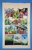 H.A.R.D. Corps #13 page 19 Valiant Comics ORIGINAL COLOR ART Hand Painted 1993