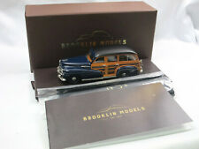 Brooklin Models BML 25 1942 Oldsmobile B44 Station Wagon Woodie blue  1:43