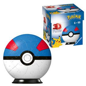 Ravensburger Pokémon 3D 11265 Jigsaw Puzzle Great Ball 54 Piece 7.5cm Ages 6+