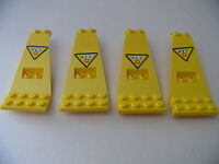 Lego 4 panneaux jaunes set 6473  / 4 yellow  panels with stickers