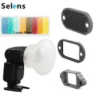Selens 5in1 Magnetic Flash Modifier Sphere Diffuser Filter Gel Kit For Speedlite