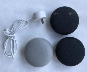Lot of 3 - Google Home Model HOA Mini Smart Assistant Speakers