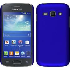 Hardcase Samsung Galaxy Ace 3 rubberized blue Cover + protective foils