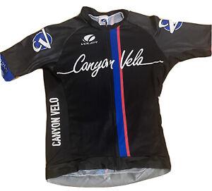 Canyon Velo Cycling Club Jersey Shirt Voler Large Made USA Orange County Cali