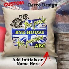 Personalised Rye House Speedway Bike Racing Vintage Cushion Canvas Cover Gift