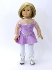 Doll Clothes Fit AG Skating Lavender Velour Sequin Made For American Girl Dolls