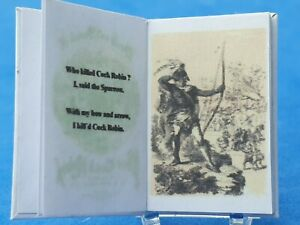1/12 scale Book Death and burial of poor cock robin 1865 Crafted by Ken Blythe