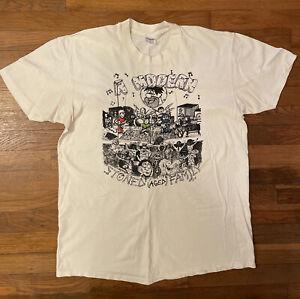 Vintage 1989 80s Grateful Dead Flintstones Yaba Graba Doobee Tee Shirt J. Levine
