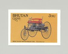 Bhutan #644 Benz Motor Wagon, Automobiles 1v Imperf Proof