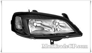 Scheinwerfer Projektor Körper Schwarz Vorne Rechts Opel Astra G 02/1998- >