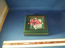 """Stained Glass Great Is The Lord """"How Great Thou Art"""" Music Box"""