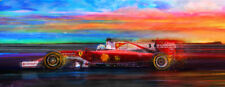 Automotive Motorsport Car Art 2016 Ferrari F1 Sebastian Vettel LRG CANVAS PRINT