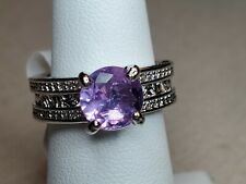 Ring Bomb Party Light Amethyst & White Topaz RBP2493 Ring Size 6 New w/tag & bag