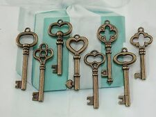 Mixed Antique Bronze Color Vintage Style Key Charms Pendant -Lot of 8 - New