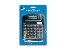 Black Jumbo Desktop Calculator .8 Digit Large Button School Home Office Battery