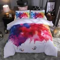 Splash Ink Digital Print Duvet Cover Quilt Cover Bedding Set Twin Queen King