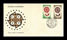 Dr Jim Stamps Flower Europa Cept First Day Issue Greece Monarch Size Cover