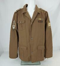 Ninety Six North Military Inspired Button Up Jacket Brown Men's 2XL - NWT