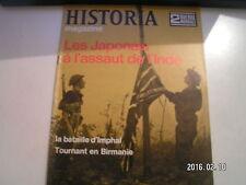 ** Historia magazine n°63 Les Japonais à l'assaut de l'Inde / Bataille d'Imphal