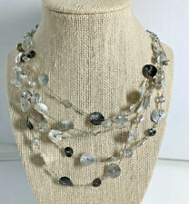 Chicos Silver Costume Wire Necklace