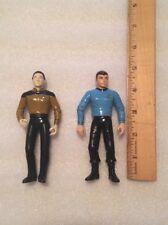 "Lot of 2 Star Trek Figures Data & Dr. McCoy 1993-94 Play Mates 4 3/4"" Tall"