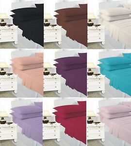 Extra Deep Elastic Fitted Sheet Bed Sheets For Mattress Single Double King Size