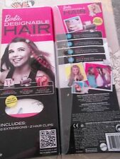 Barbie designable hair extentions lot of 2