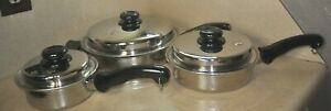 7 Pc Saladmaster System 7 & Thermium Stainless Steel T304-316