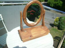 PINE SWIVEL DRESSING TABLE MIRROR WITH FRONT COMPARTMENT.