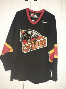 Rare VTG NIKE Cincinnati Cyclones ECHL Hockey Jersey 90s 2000s Black Men's L New