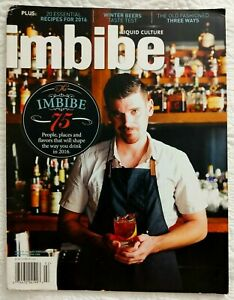 Imbibe Liquid Culture ~ #59 Jan/Feb '16 ~People, Places, Flavours lots of Ideas