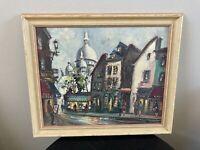 Original Oil Painting on Board Paris Street Scene Artist Signed