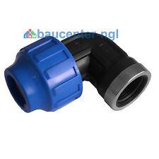 """PE-Rohr Winkel Bogen mit Adapter Innengewinde IG 90° 20mm 25mm 32mm 1/2"""" 3/4"""" 1"""""""