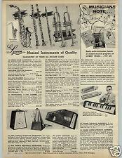 1966 PAPER AD 4 Pg Instruments Lyceum Metronome Seth Thomas Hohner Guitar Organ