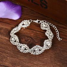 Korean Fashion Crystal Bracelet Flash Drill Simple Square Women Charm Bracelet