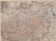Österreich - Östlicher Teil - Alte Landkarte 1933 - Karte Druck Vintage Map