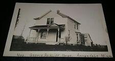 1910 Mrs George Rackliff House Annandale MN Minnesota RPPC Real Photo Postcard