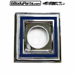 81-87 Regal Trunk Lid Lock Bezel Blue Shield Medallion Emblem 3M Adhesive Backed