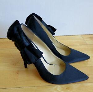 Enzo Angiolini Stylish Satin Bow High Heels Shoes - Size 7M
