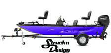 Purple Northern Pike Bait Boat Wrap Vinyl Graphic Decal Kit Fish Bass Fishing US