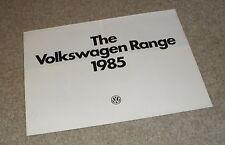 Volkswagen VW Range Brochure 1985 Polo Coupe Golf Convertible GTI Scirocco