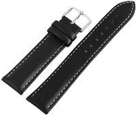 Echt-Leder Ersatzarmband Uhrenarmband Schwarz 18 20 22 24 26 mm X-8000057